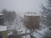 Първият сняг в България